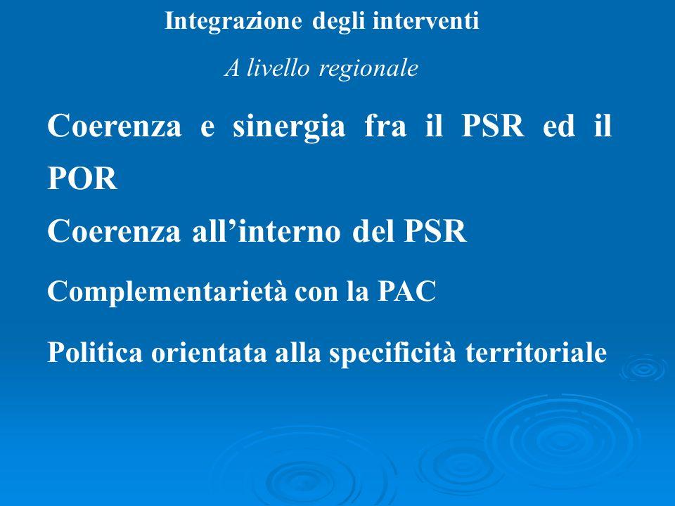 Integrazione degli interventi