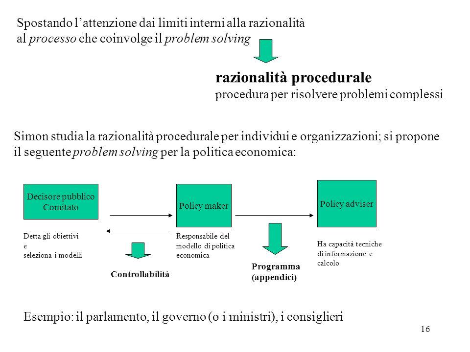 razionalità procedurale