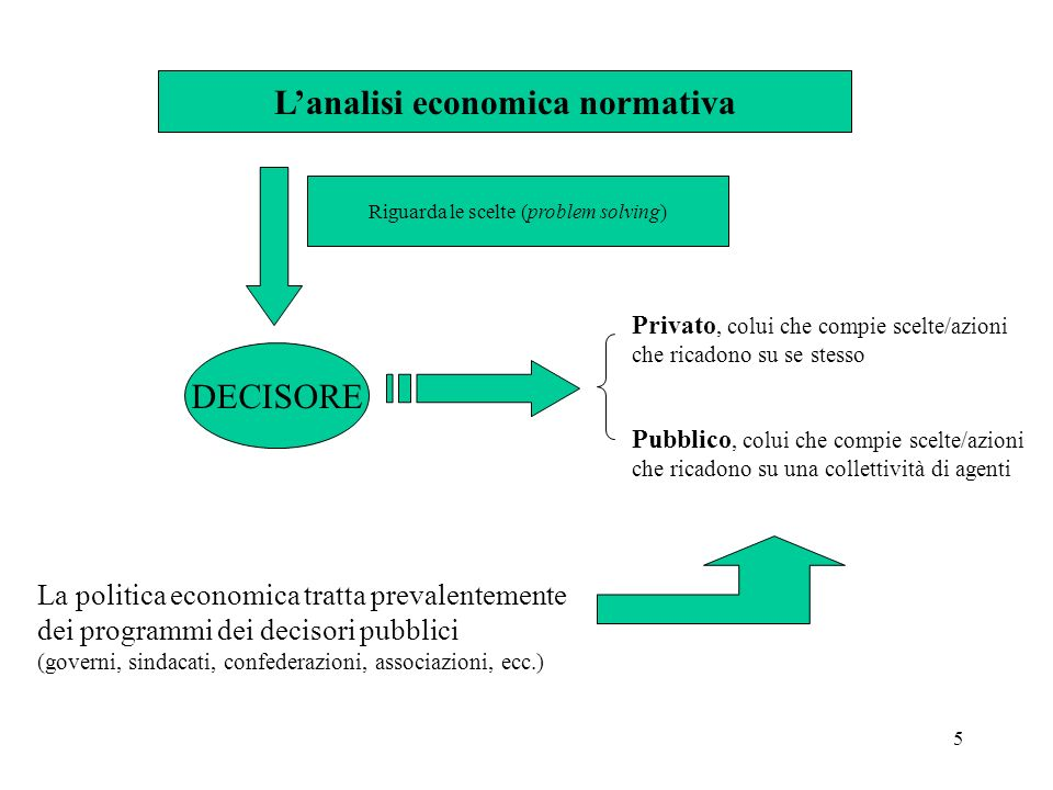 L'analisi economica normativa