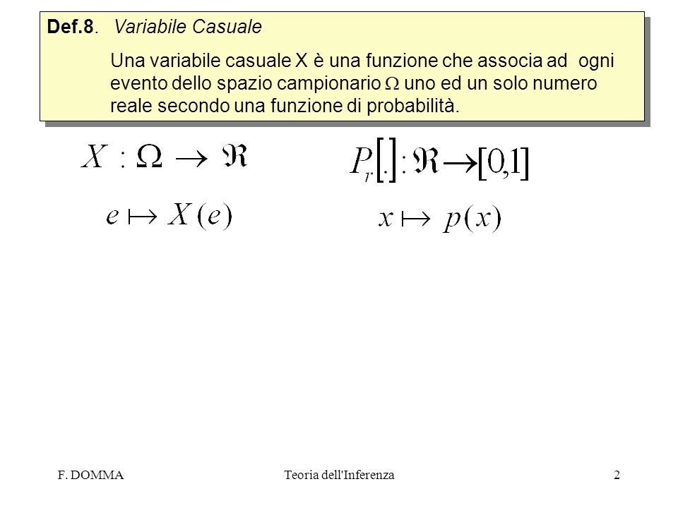 Def.8. Variabile Casuale