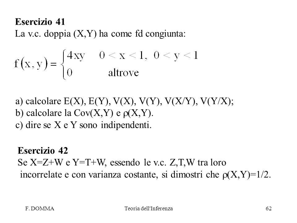 La v.c. doppia (X,Y) ha come fd congiunta: