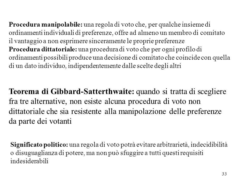 Teorema di Gibbard-Satterthwaite: quando si tratta di scegliere