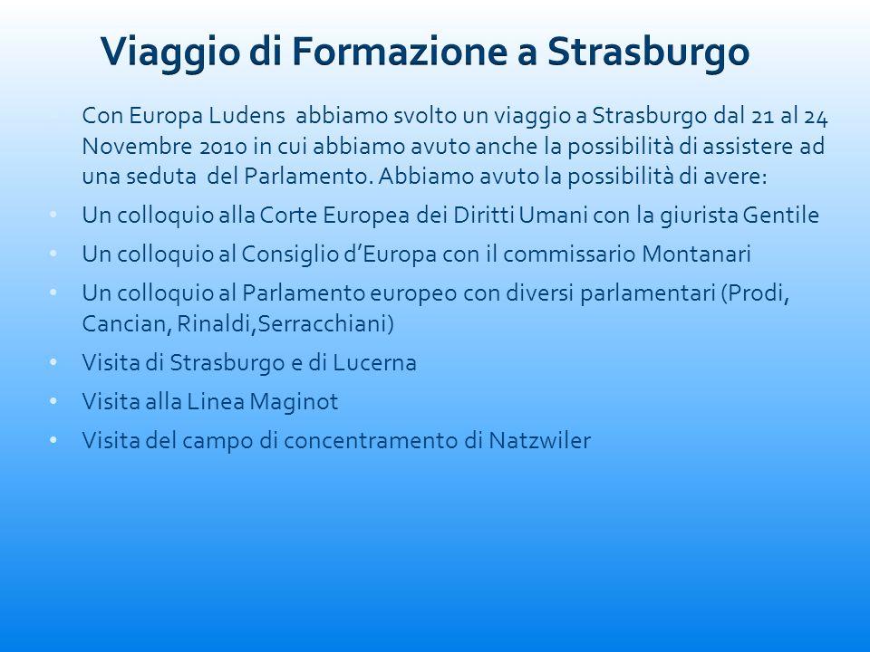 Viaggio di Formazione a Strasburgo