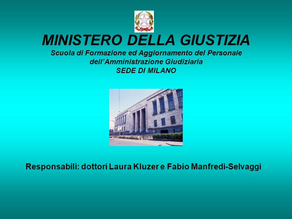 Responsabili: dottori Laura Kluzer e Fabio Manfredi-Selvaggi