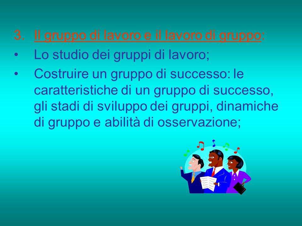 Il gruppo di lavoro e il lavoro di gruppo: