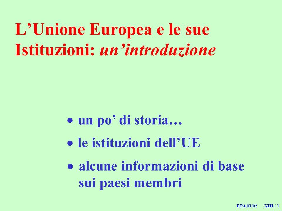 L'Unione Europea e le sue Istituzioni: un'introduzione