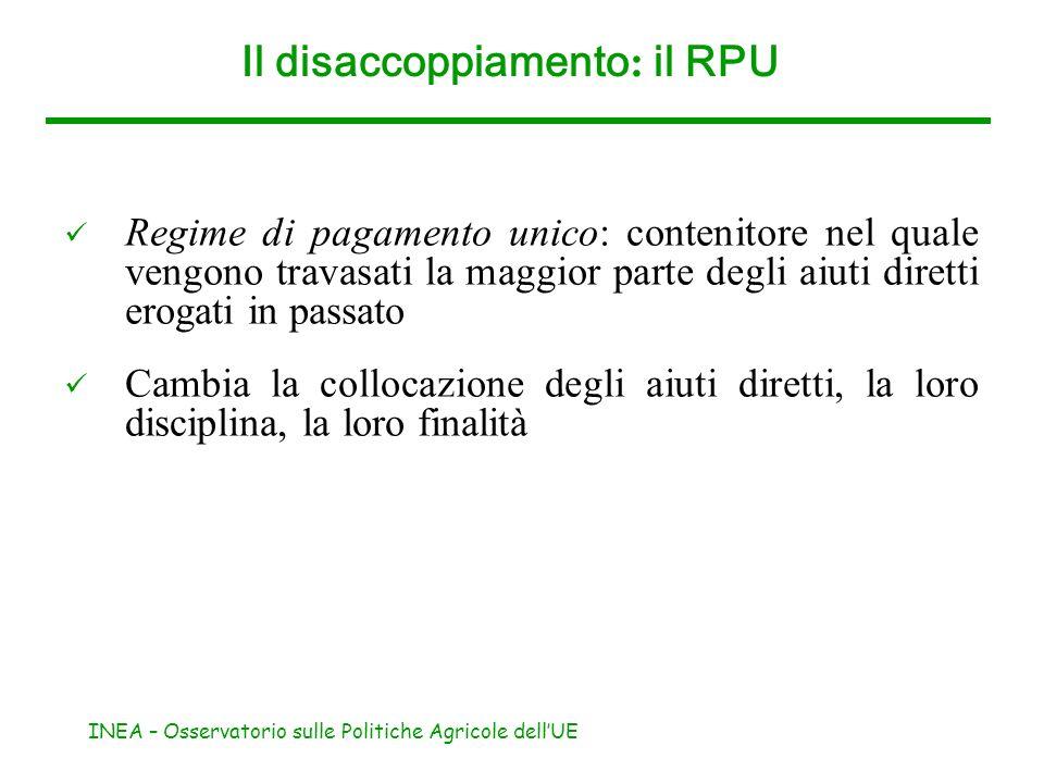 Il disaccoppiamento: il RPU