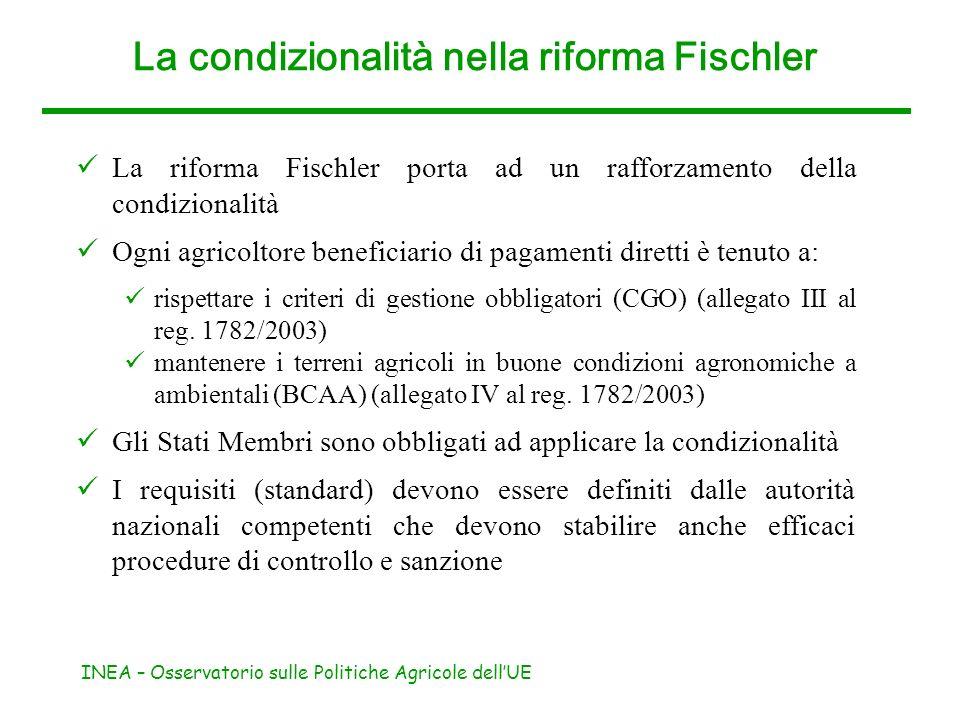 La condizionalità nella riforma Fischler
