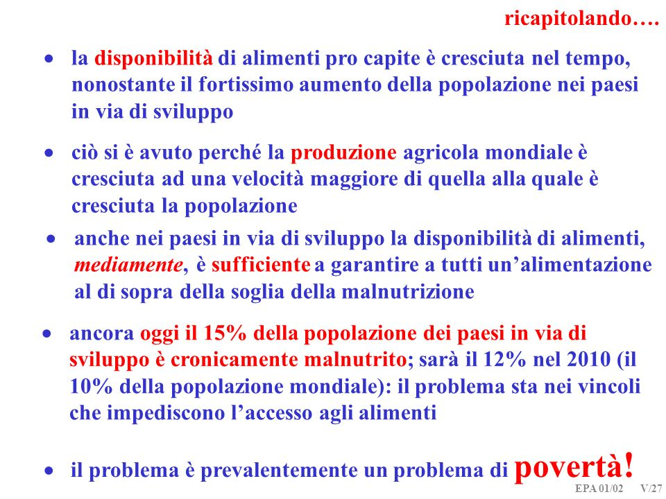  il problema è prevalentemente un problema di povertà!