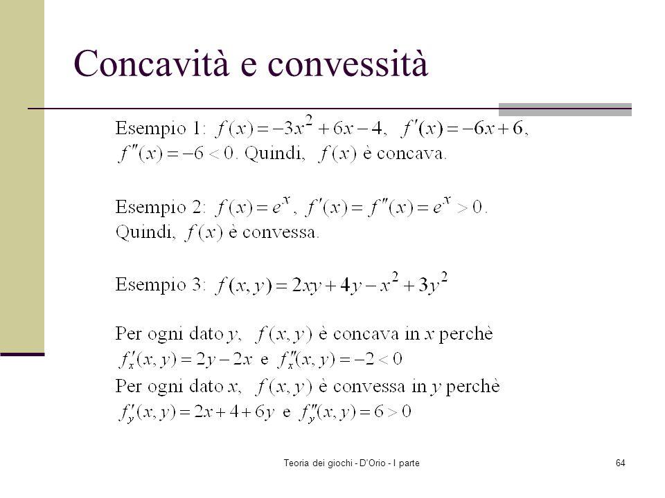 Concavità e convessità
