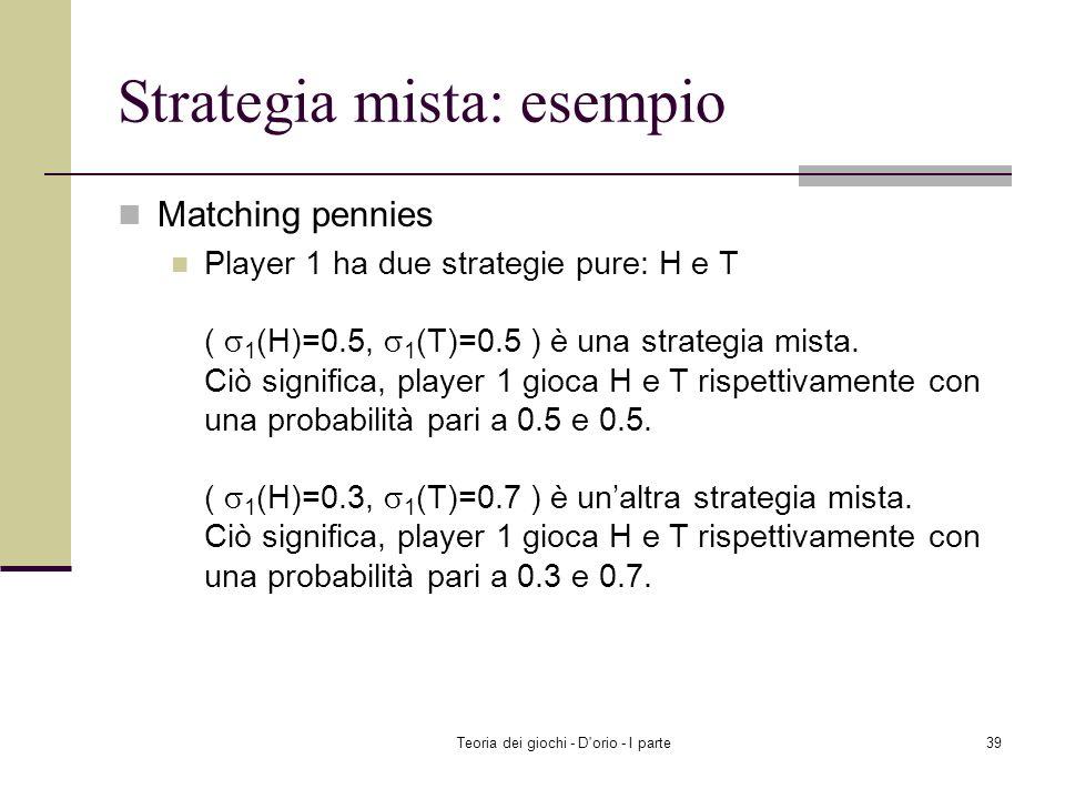 Strategia mista: esempio