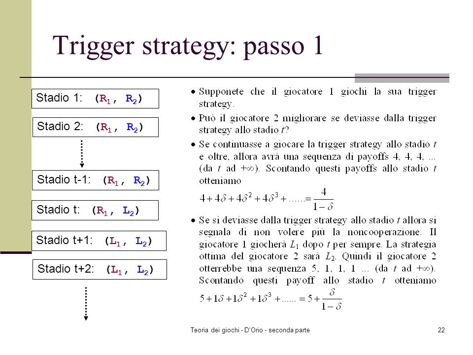 Trigger strategy: passo 1