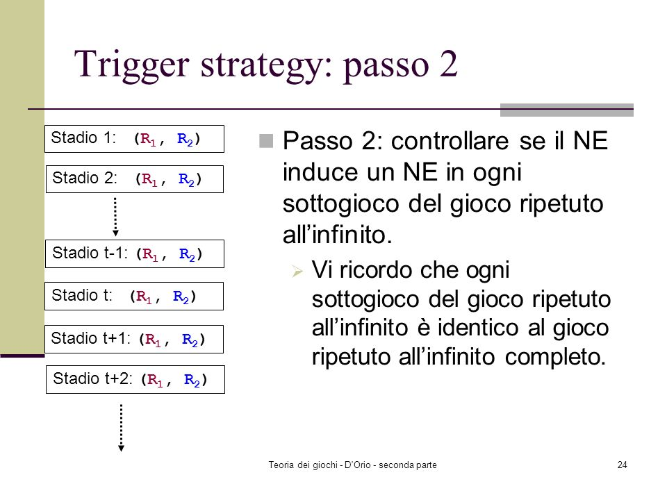 Trigger strategy: passo 2