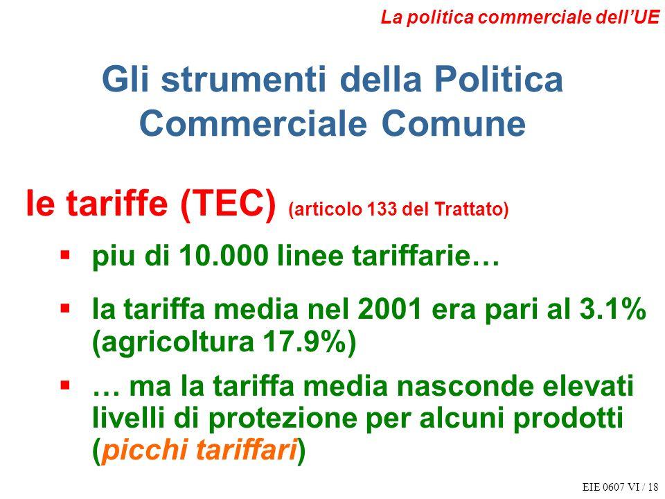 Gli strumenti della Politica Commerciale Comune