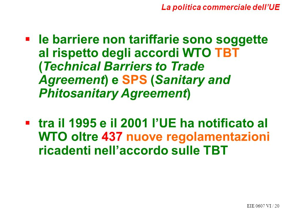 La politica commerciale dell'UE