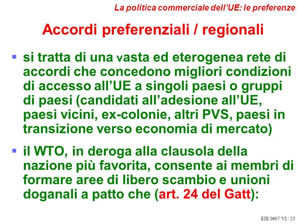 Accordi preferenziali / regionali