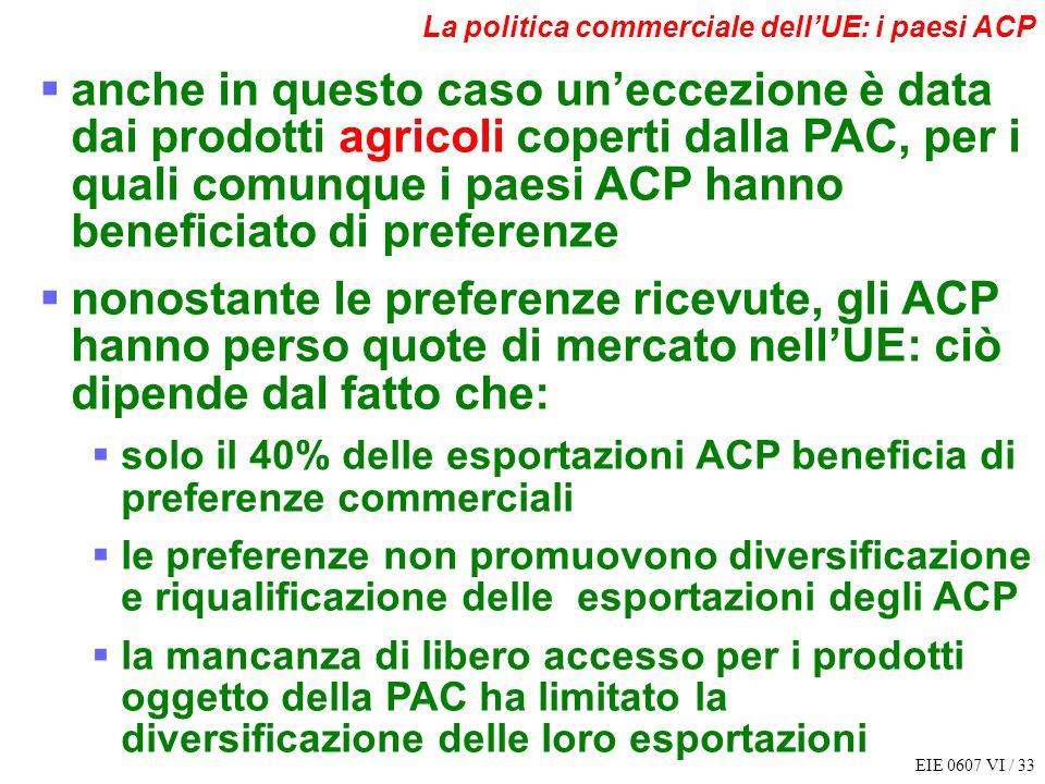 La politica commerciale dell'UE: i paesi ACP