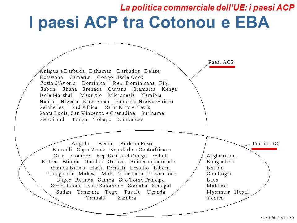 I paesi ACP tra Cotonou e EBA