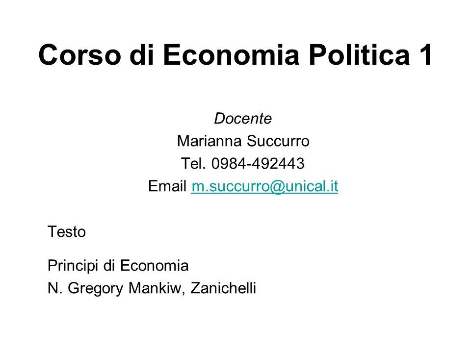 Corso di Economia Politica 1