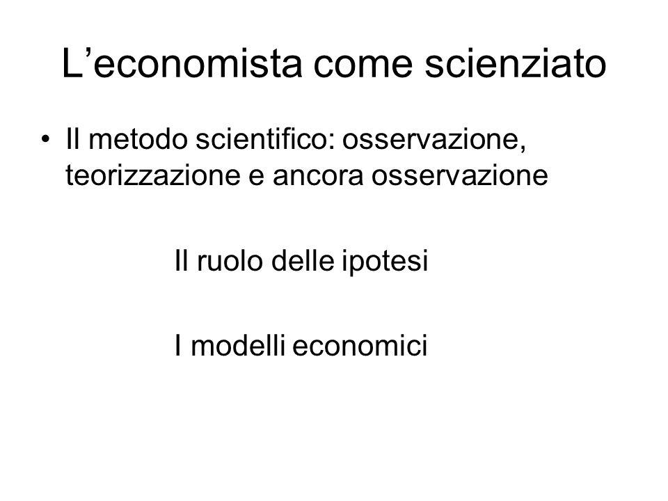 L'economista come scienziato