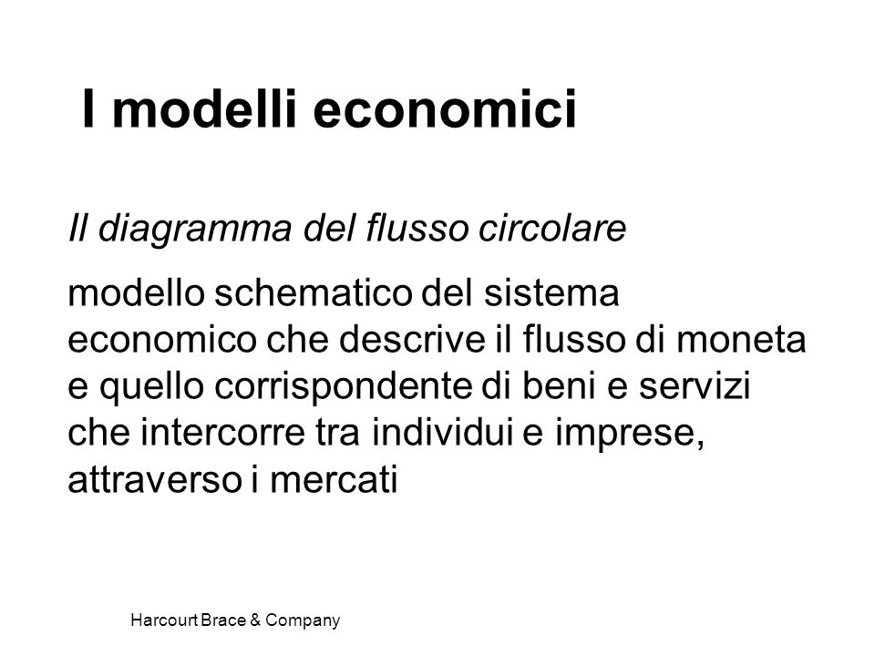 I modelli economici