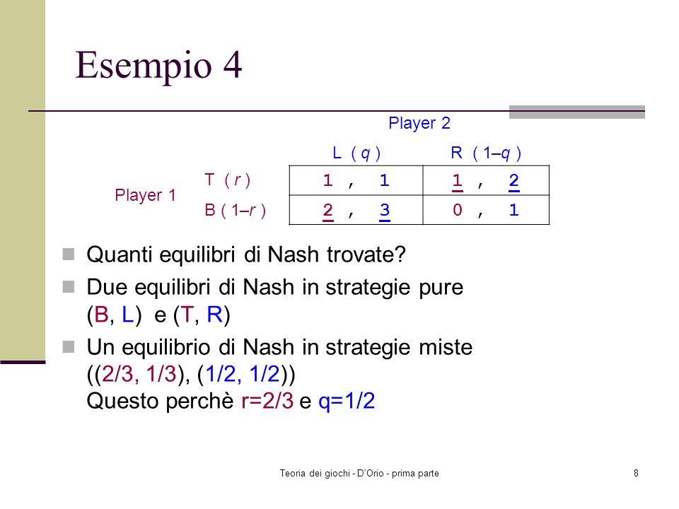 Teoria dei giochi - D Orio - prima parte