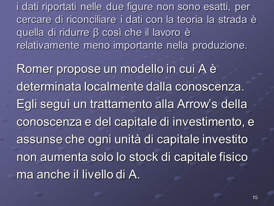 Romer propose un modello in cui A è