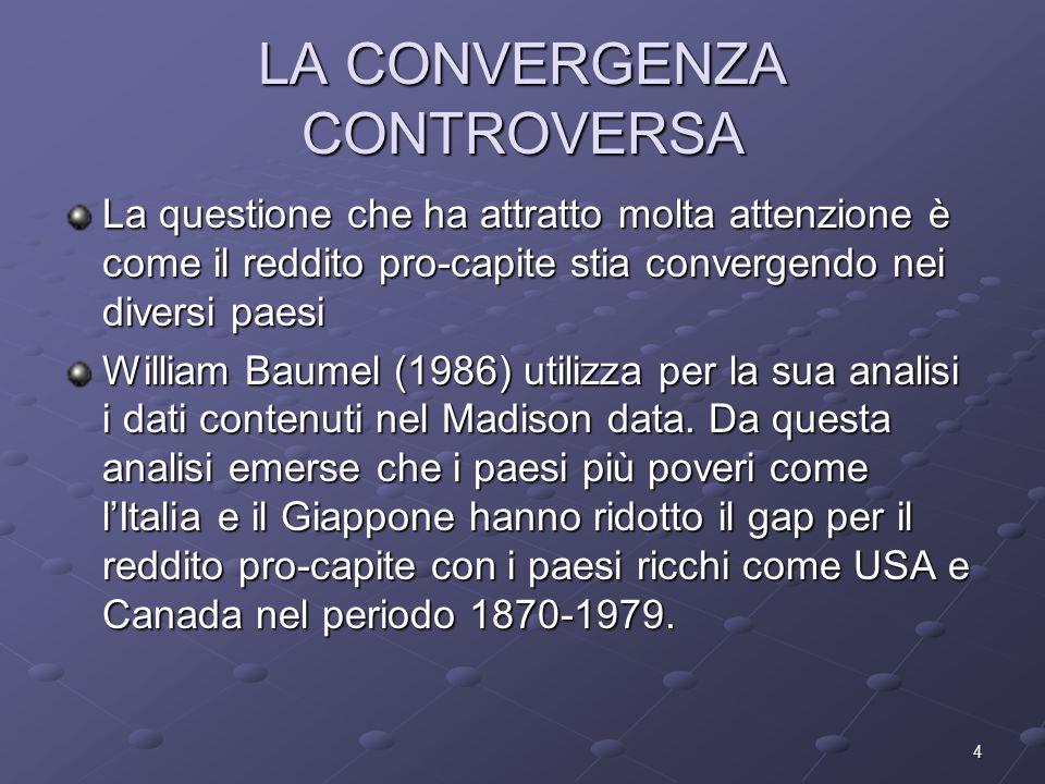 LA CONVERGENZA CONTROVERSA