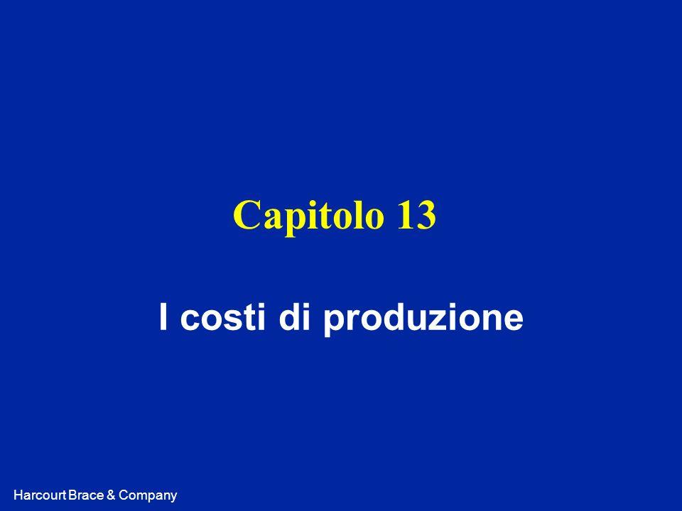 Capitolo 13 I costi di produzione