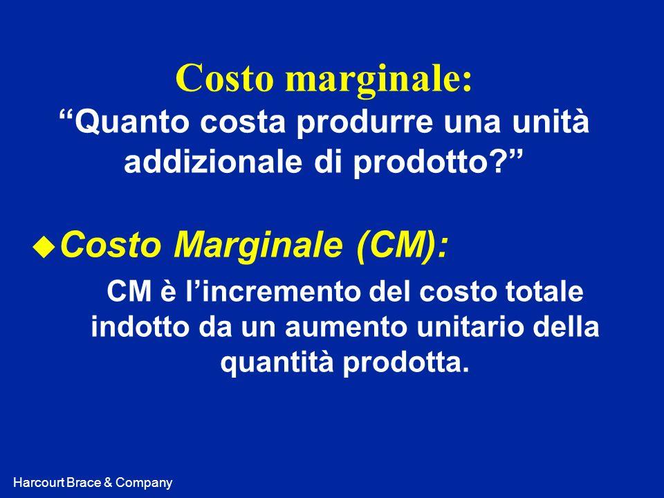 Costo marginale: Quanto costa produrre una unità addizionale di prodotto