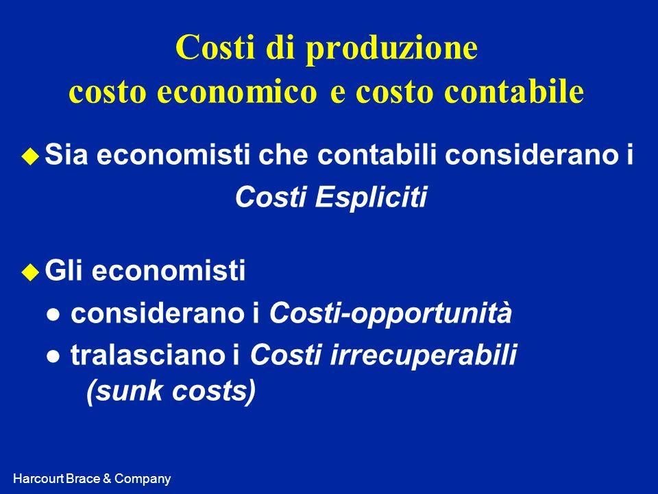 Costi di produzione costo economico e costo contabile