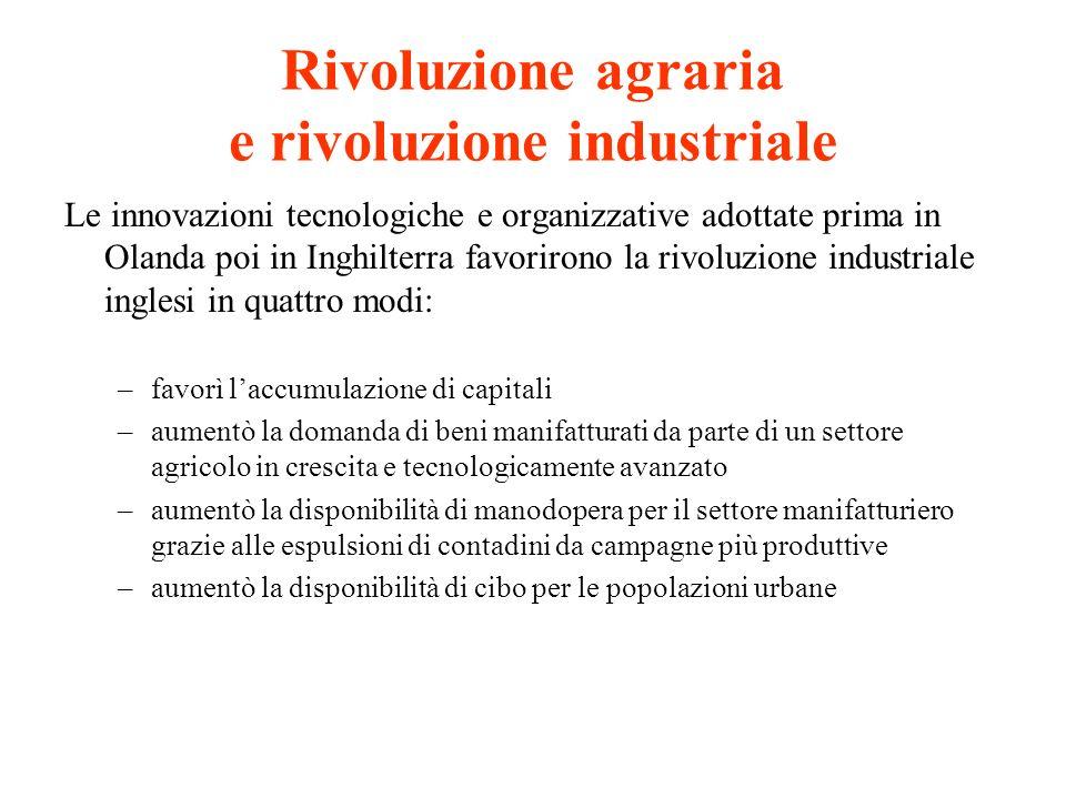 Rivoluzione agraria e rivoluzione industriale