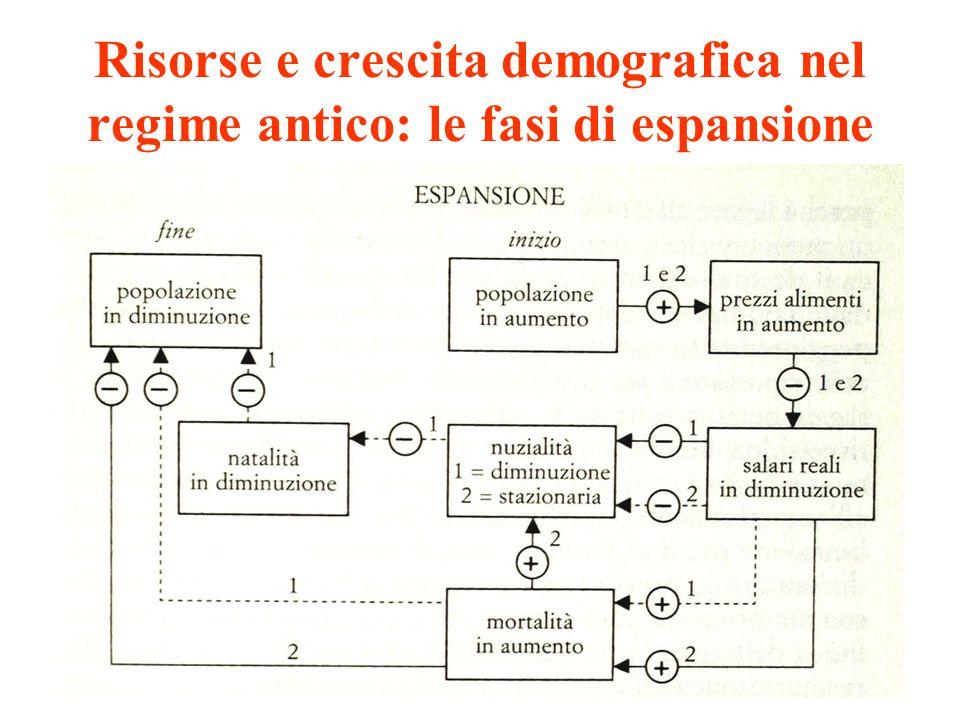 Risorse e crescita demografica nel regime antico: le fasi di espansione