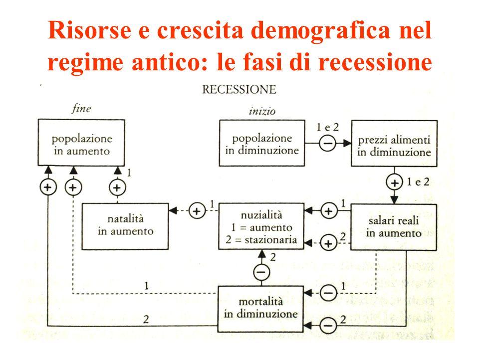 Risorse e crescita demografica nel regime antico: le fasi di recessione