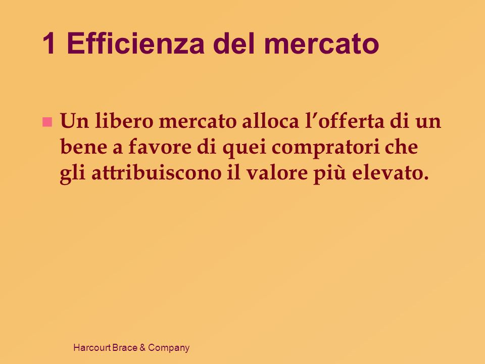 1 Efficienza del mercato