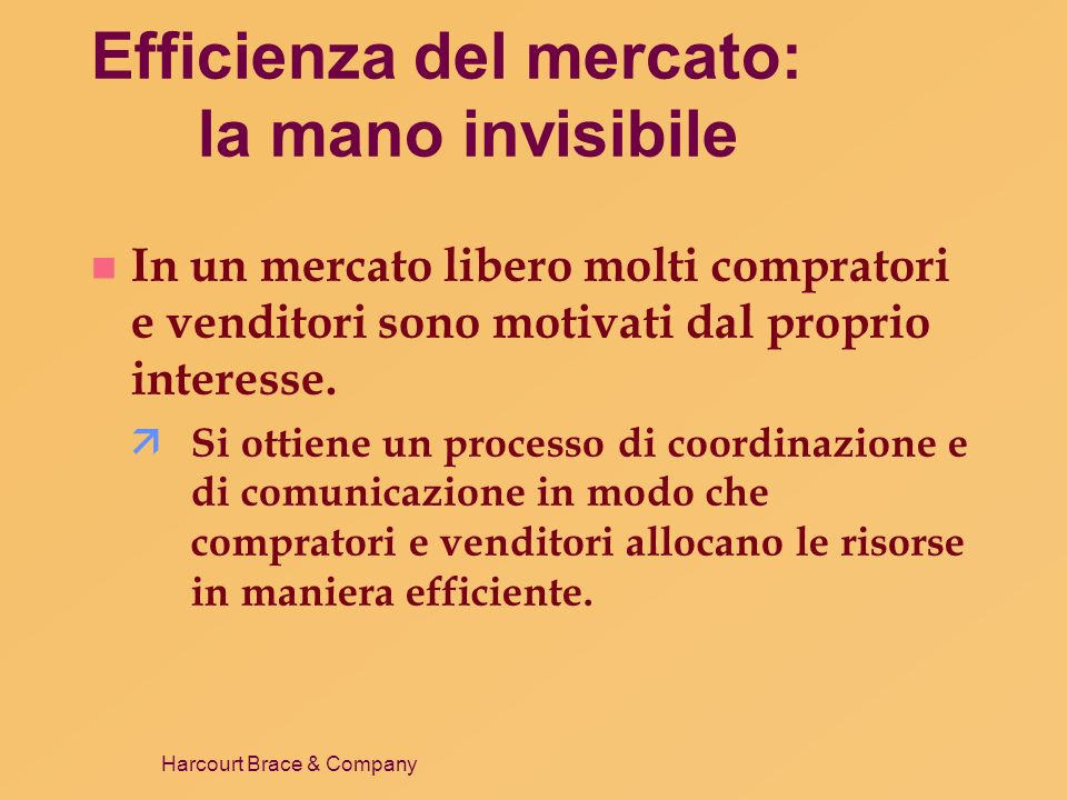 Efficienza del mercato: la mano invisibile