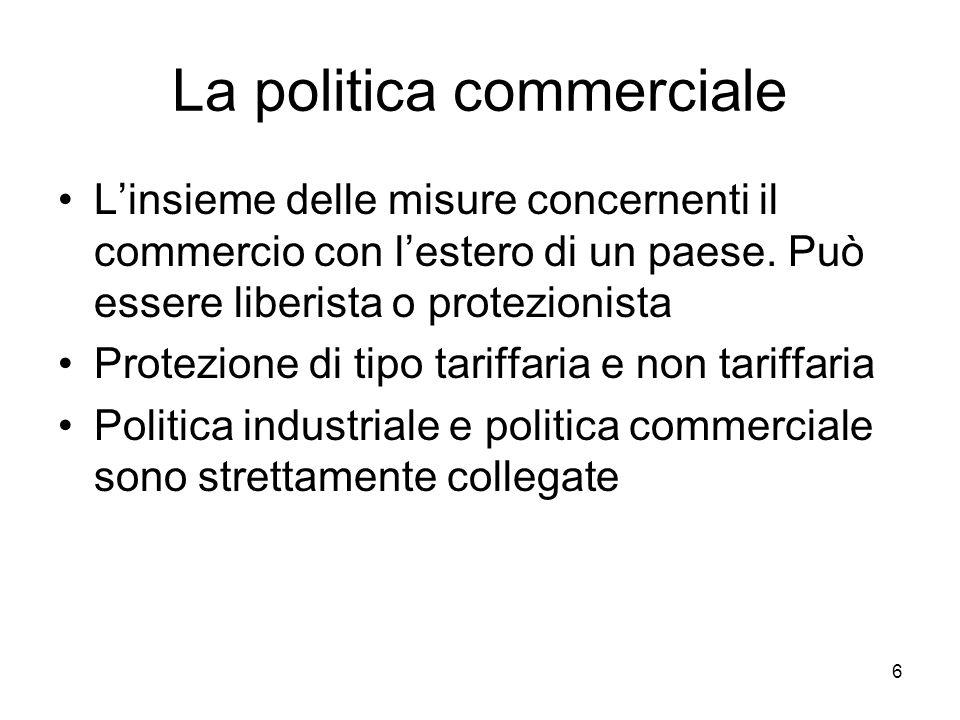 La politica commerciale
