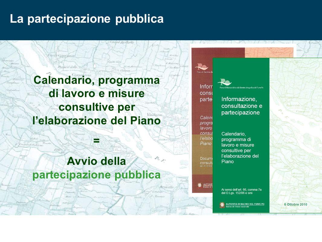 Avvio della partecipazione pubblica