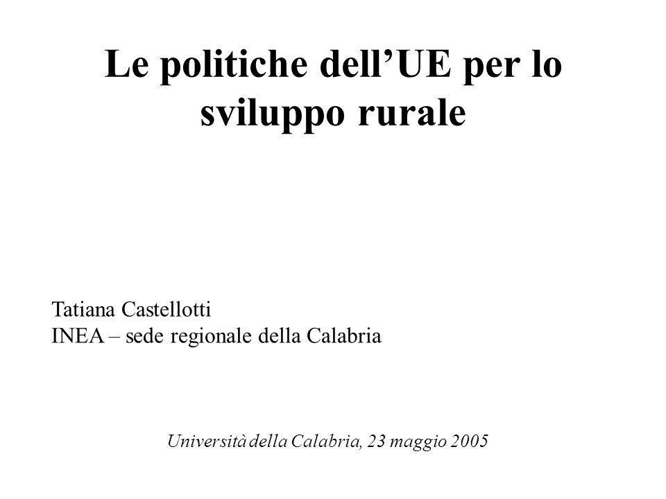 Le politiche dell'UE per lo sviluppo rurale
