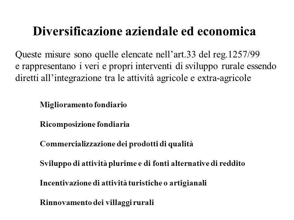 Diversificazione aziendale ed economica
