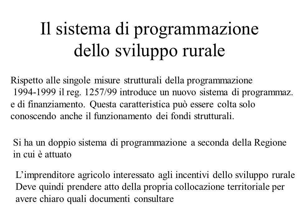 Il sistema di programmazione dello sviluppo rurale