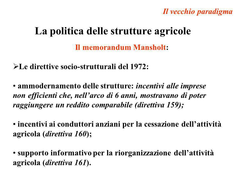La politica delle strutture agricole