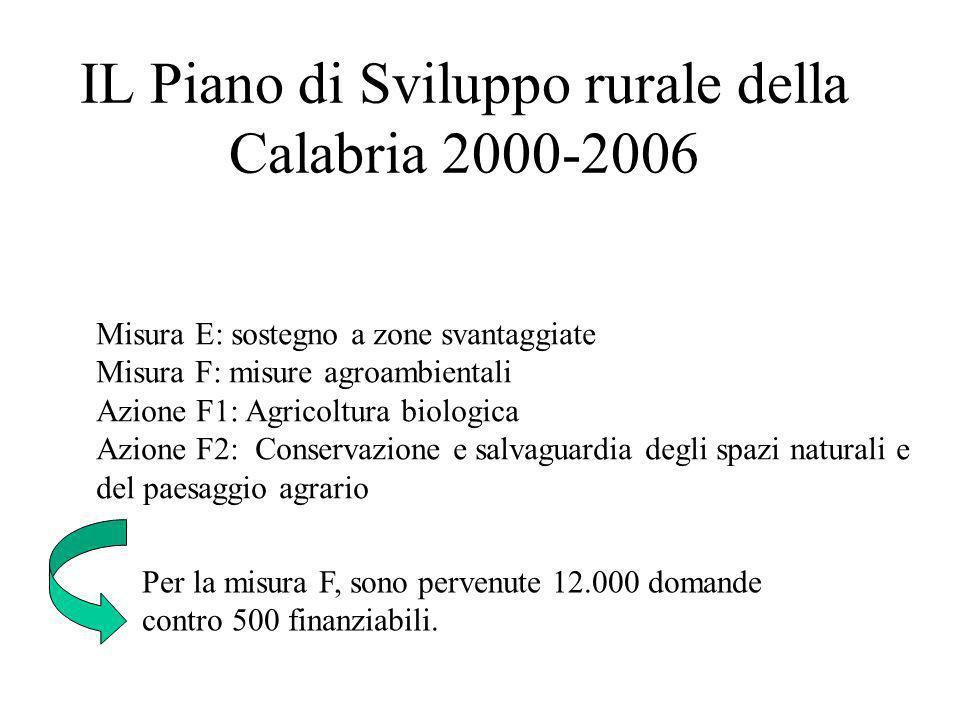IL Piano di Sviluppo rurale della Calabria 2000-2006