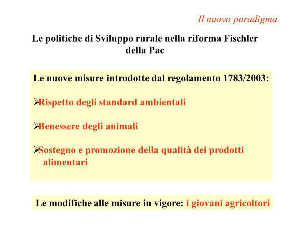 Le politiche di Sviluppo rurale nella riforma Fischler della Pac