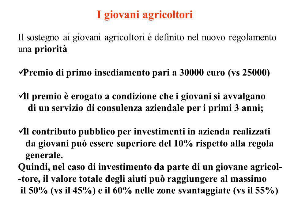 I giovani agricoltori Il sostegno ai giovani agricoltori è definito nel nuovo regolamento. una priorità.