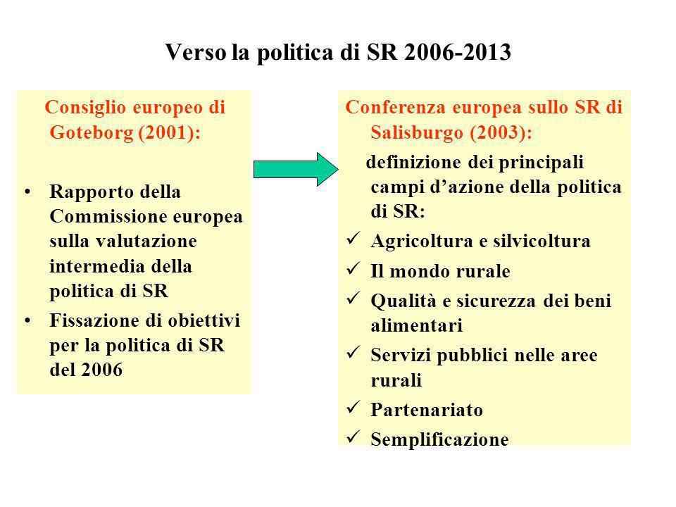 Verso la politica di SR 2006-2013