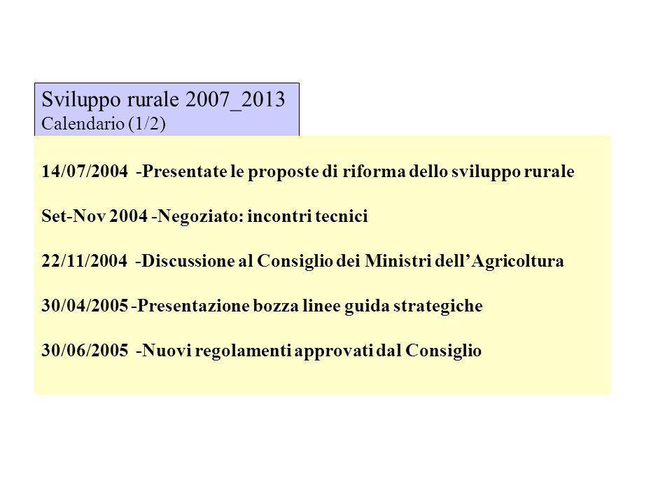 Sviluppo rurale 2007_2013 Calendario (1/2)