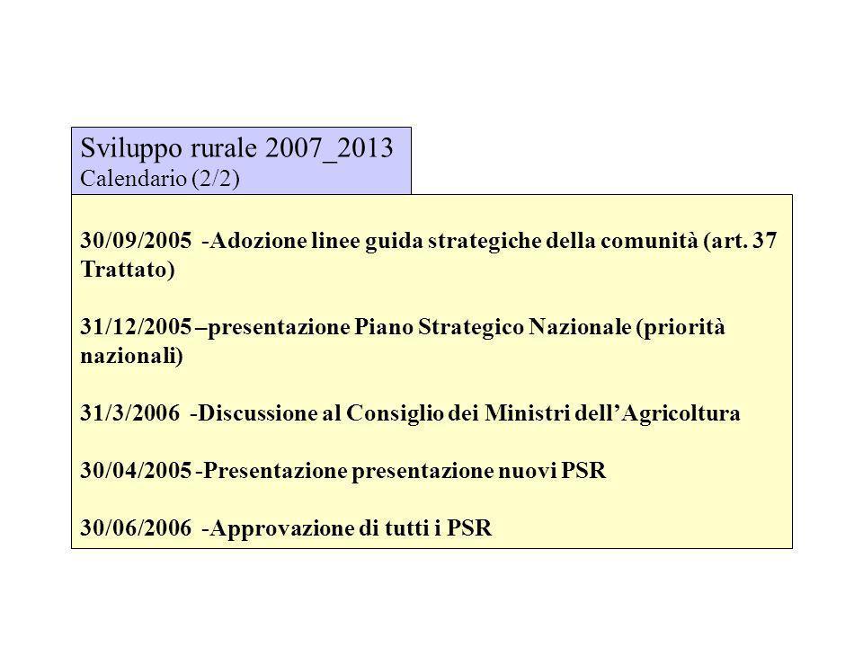 Sviluppo rurale 2007_2013 Calendario (2/2)