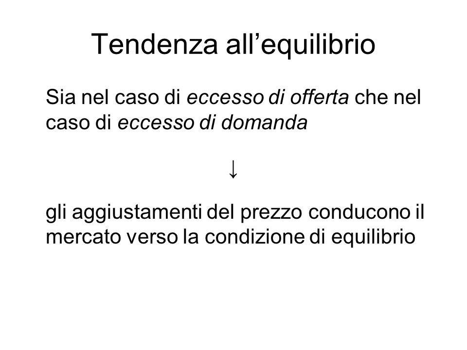 Tendenza all'equilibrio