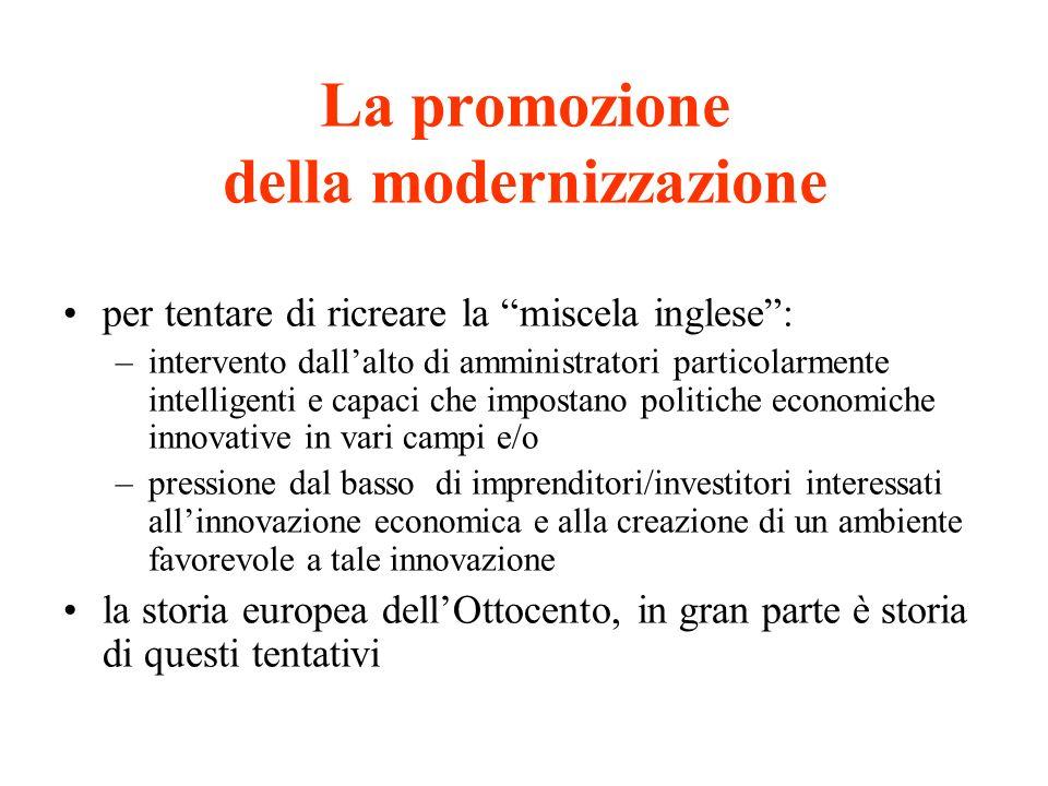 La promozione della modernizzazione